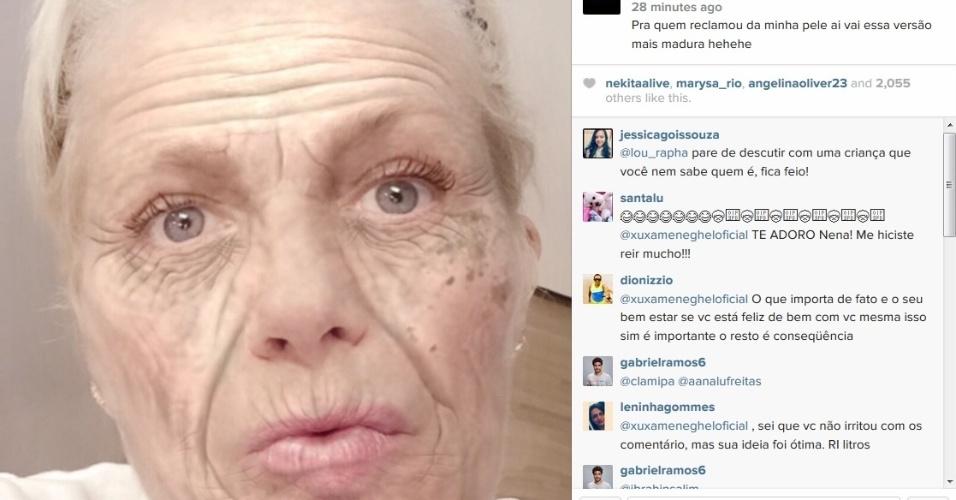 7.mai.2015 - Xuxa posta foto 'idosa'