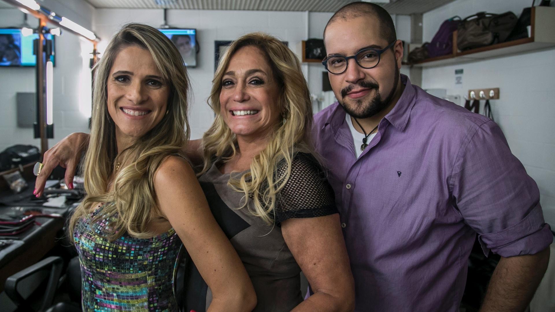Marlene ( Ingrid Guimarães ), Susana Vieira e Fran (Tiago Abravanel) em