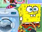 Bob Esponja lavagem de roupas