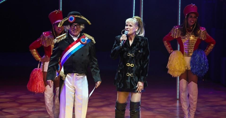 20.mai.2015 - Xuxa Meneghel participa do espetáculo