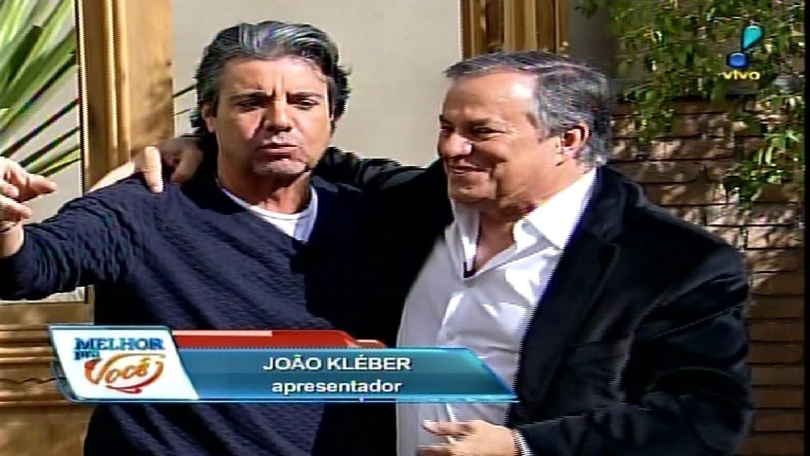 25.mai.2015 - João Kleber também prestigiou a estreia do