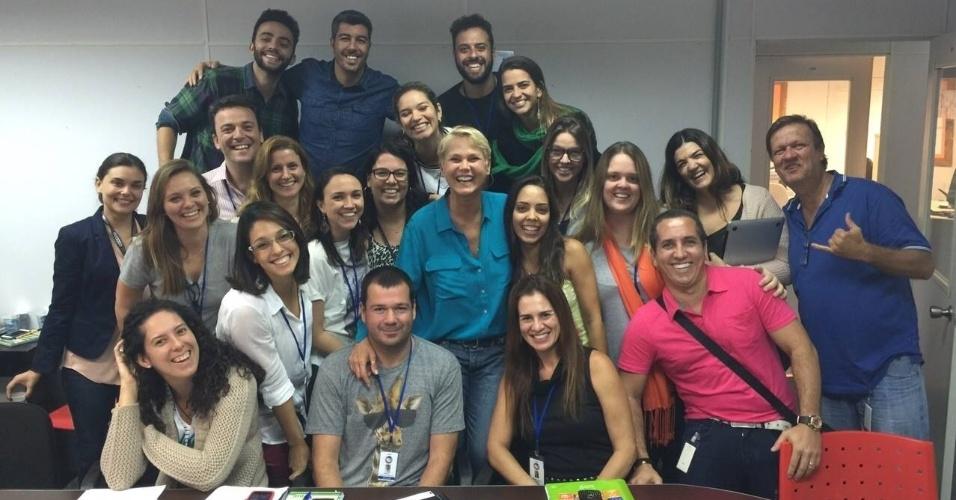 25.mai.2015 - Xuxa já tem uma equipe formada trabalhando na produção de seu novo programa, previsto para ir ao ar nas noites de segunda-feira, pela TV Record.