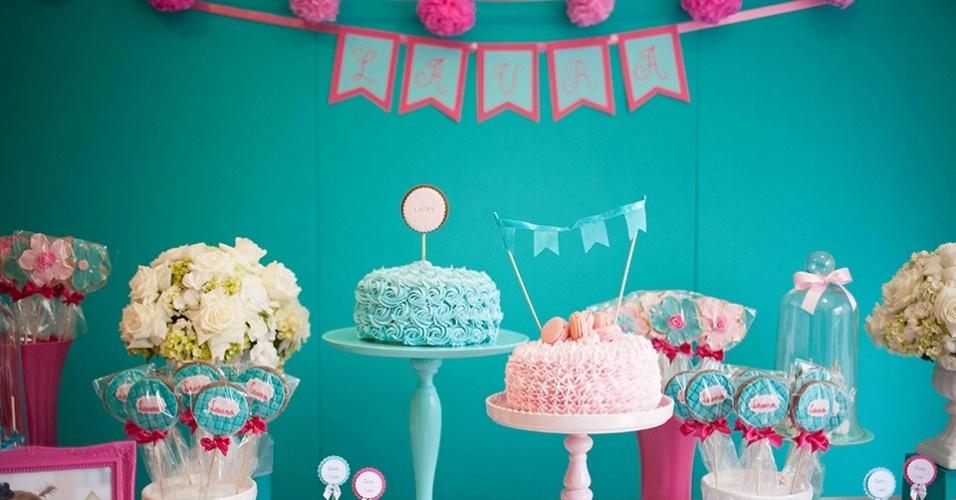 Mãe opta por festa sem personagem para comemorar primeiro  ~ Quarto Rosa E Azul Tiffany