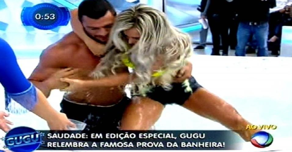 28.mai.2015 - Kleber Bambam enfrenta Denise Rocha na edição especial da