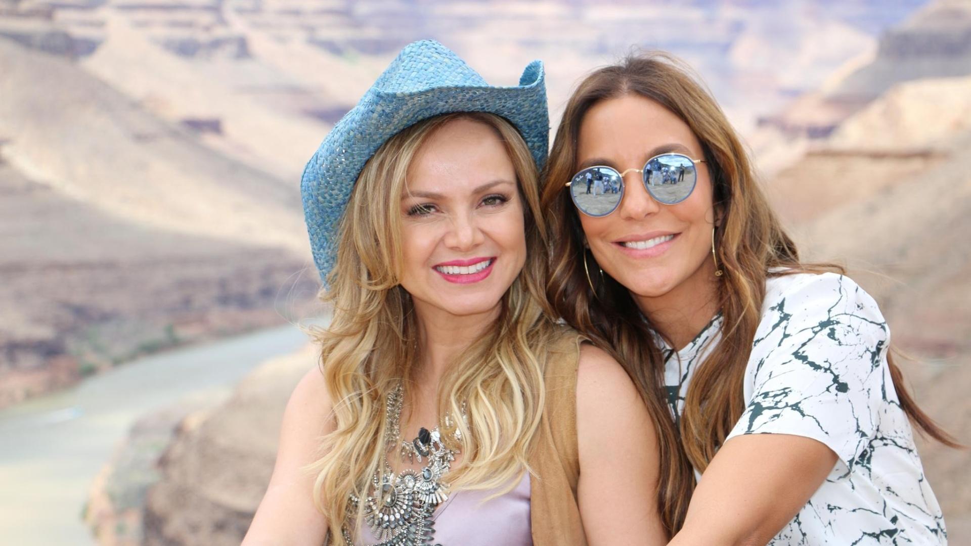 Ivete Sangalo e Eliana sobrevoam o Grand Canyon nos EUA e conversam sobre a vida