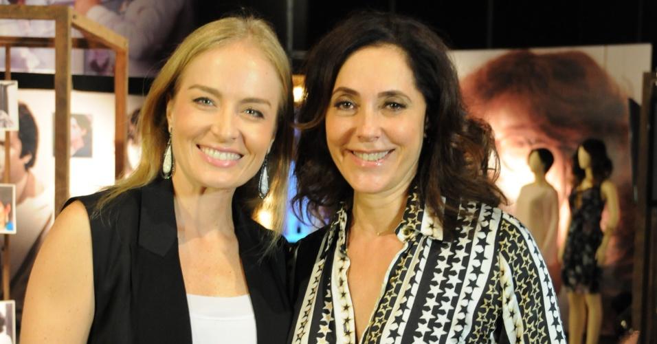 Christiane Torloni com Angélica, no quadro