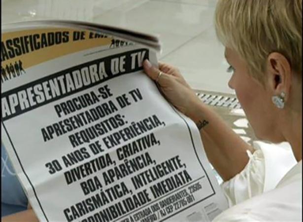 Em primeira chamada na Record, Xuxa aparece procurando emprego
