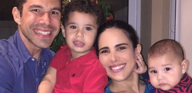 Wanessa com o marido, Marcus Buaiz e os filhos José Marcus e João Francisco