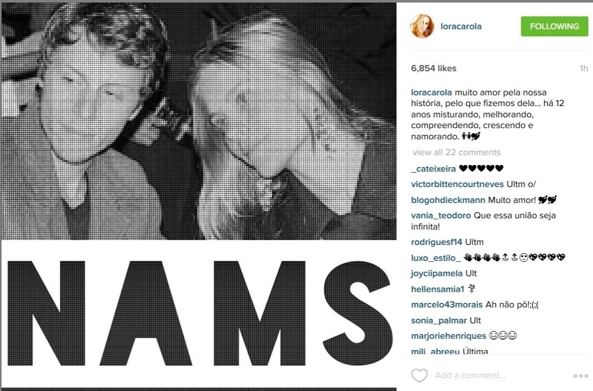 Casada com o diretor Tiago Worcman, Carolina Dieckmann usou o Instagram para se declarar para o marido no Dia dos Namorados.