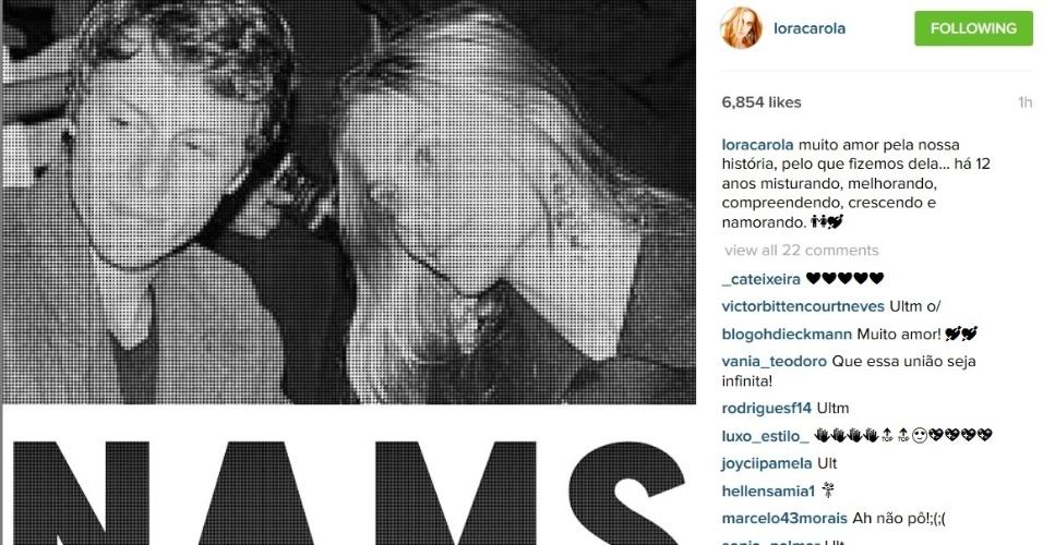 Casada com o diretor Tiago Worcman, Carolina Dieckmann usou o Instagram para