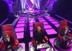 """Jurados do """"The Voice"""" combinam votos durante apresentações dos candidatos - Reprodução/TV Globo"""