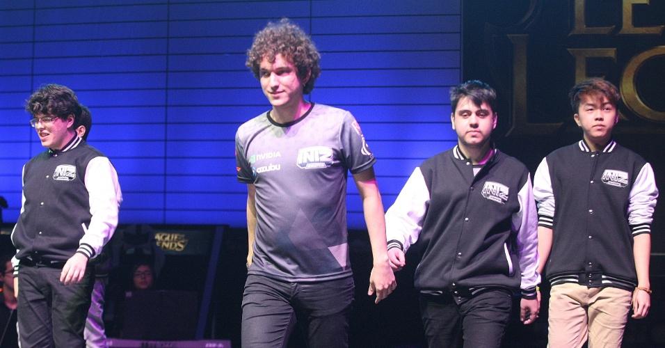 Jogadores da INTZ chegam ao Allianz Parque para a grande final do CBLoL, que acontece no sábado (8) em SP