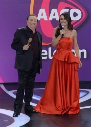 O apresentador Raul Gil participou na semana passada do Teleton