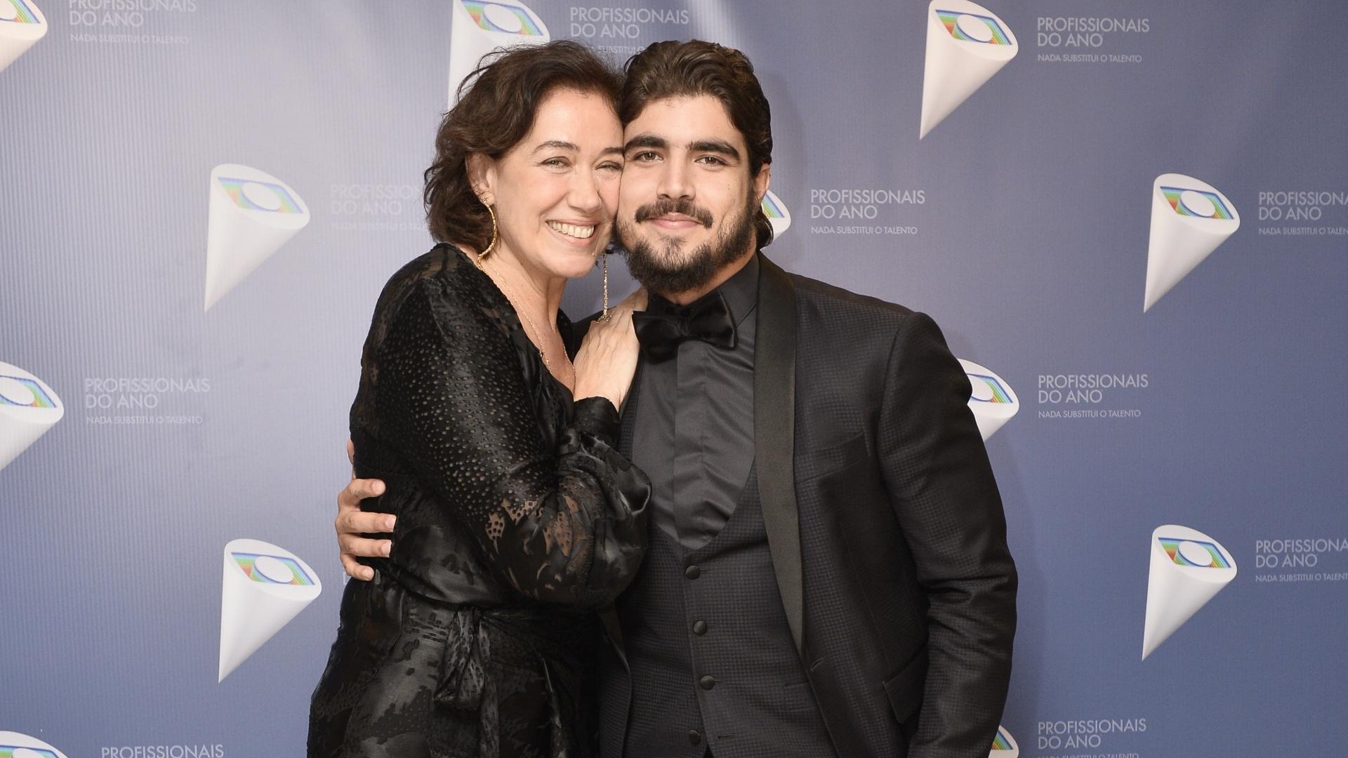 Lilia Cabral e Caio Castro no evento Profissionais do Ano