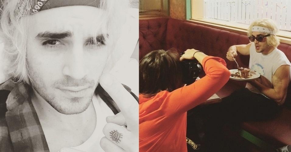 1º.jul.2015 - Fiuk descolore os cabelos e mostra o resultado em sua conta pessoal do Instagram