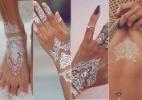Adeus ao dourado: tatuagens temporárias brancas surgem como nova tendência - Montagem/UOL