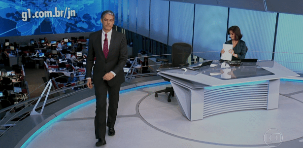 "William Bonner deixa bancada do ""Jornal Nacional"" antes do fim"