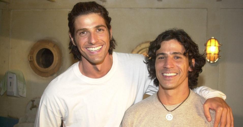 Leonardo Brício (Ulisses) e Reynaldo Gianecchini (Paco/Apolo) em