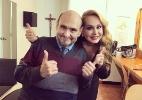 """""""Usurpadora"""" e Sr. Barriga, de """"Chaves"""", se encontram (e não foi no SBT) - Reprodução/Instagram/varedg"""