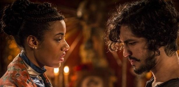 """Yara Charry (Sophie) e Gabriel Leone (Miguel) enfrentam o racismo em """"Velho Chico"""""""