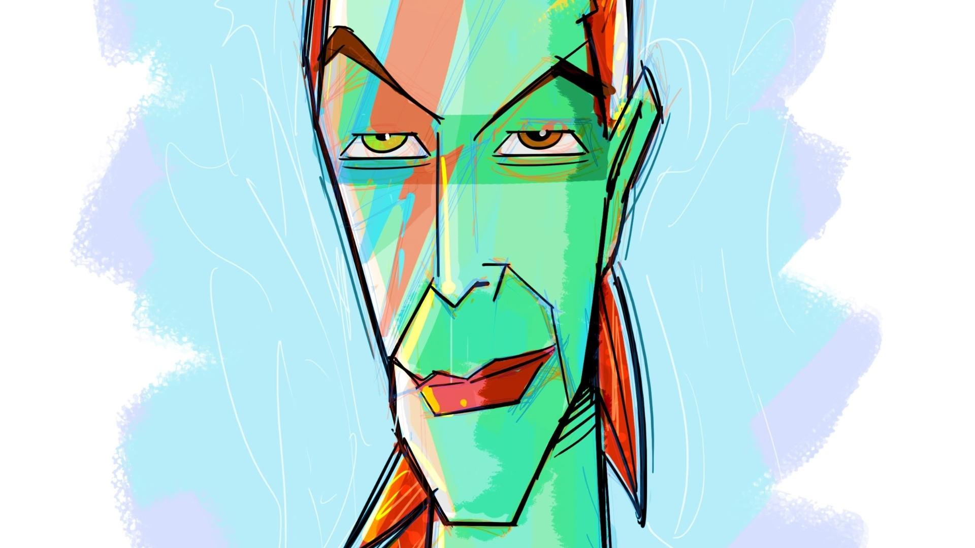 Um David Bowie verde foi a homenagem de Cesar Cavelagna ao cantor