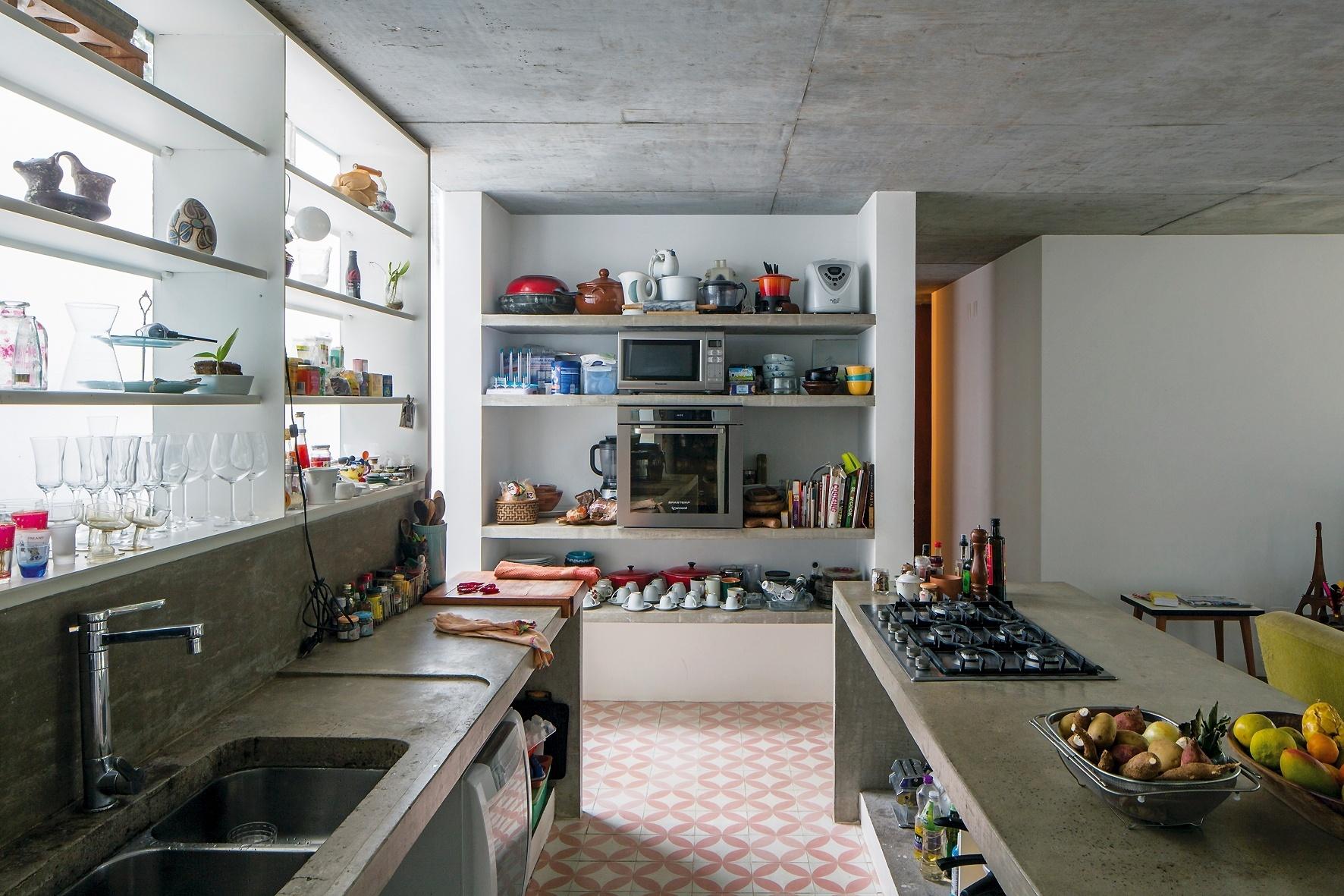 cozinha americana com bancada de granito #674633 1772 1181