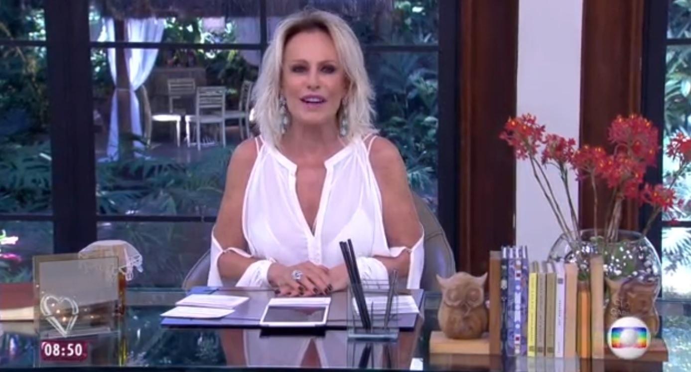 19.abr.2016 - Ana Maria Braga abre o