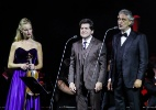Andrea Bocelli se apresenta com Daniel e a violinista Caroline Campbell em Aparecida (SP) - Rafael Cusato/Brazil News
