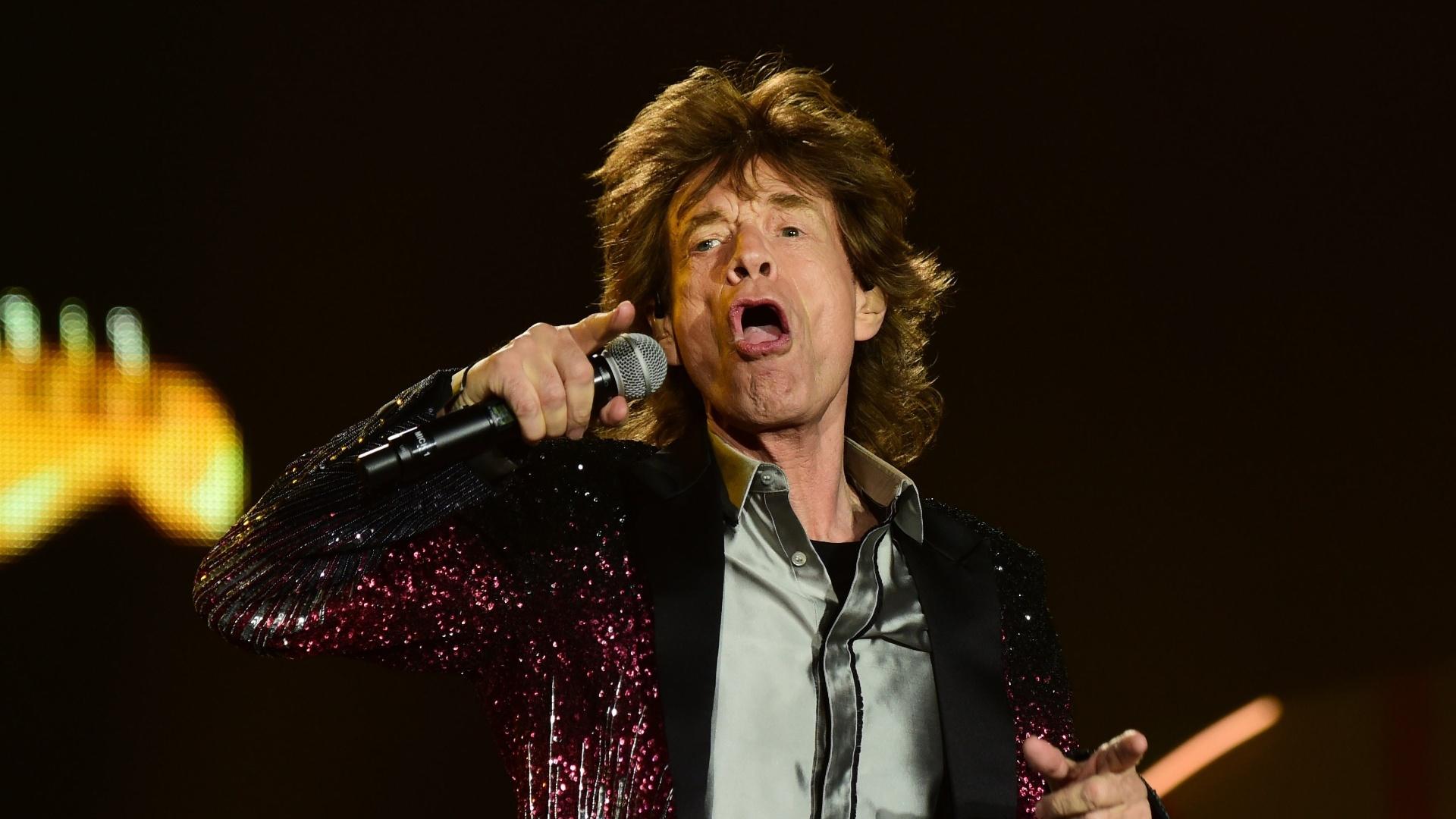 03.fev.2016 - Mick Jagger se apresenta com os Rolling Stones no Chile, no primeiro show da turnê Olé, na América Latina