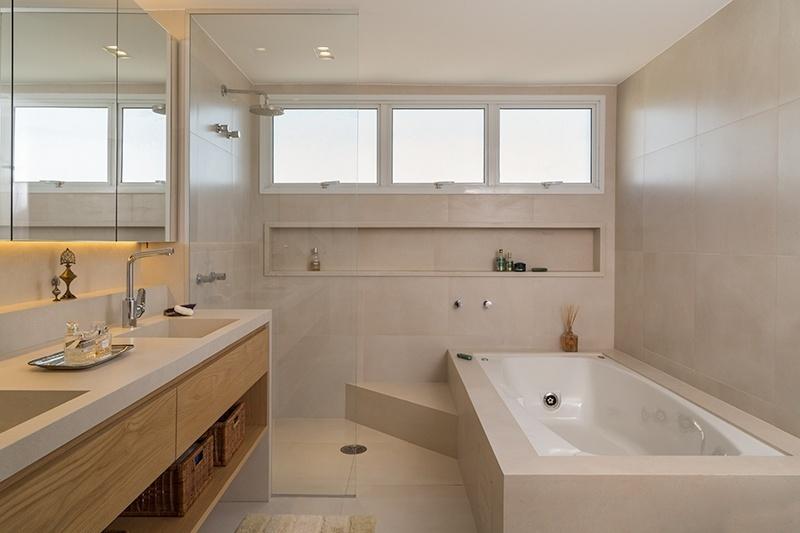 Banheiros sugestões para decoração tendo muito ou pouco espaço  BOL Fotos  -> Nicho Retangular Banheiro
