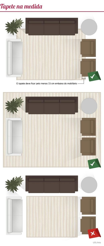 Tamanho Tapete Sala De Tv ~ Veja cinco dicas para acertar na escolha do tapete para a sala  2107