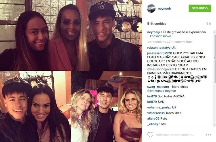 24.jul.2015 - Neymar e a irmã, Rafaella Santos, gravam participação especial em