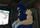 """Fã coloca Sonic no lugar de Big Boss em """"Metal Gear Solid V"""" - Reprodução"""