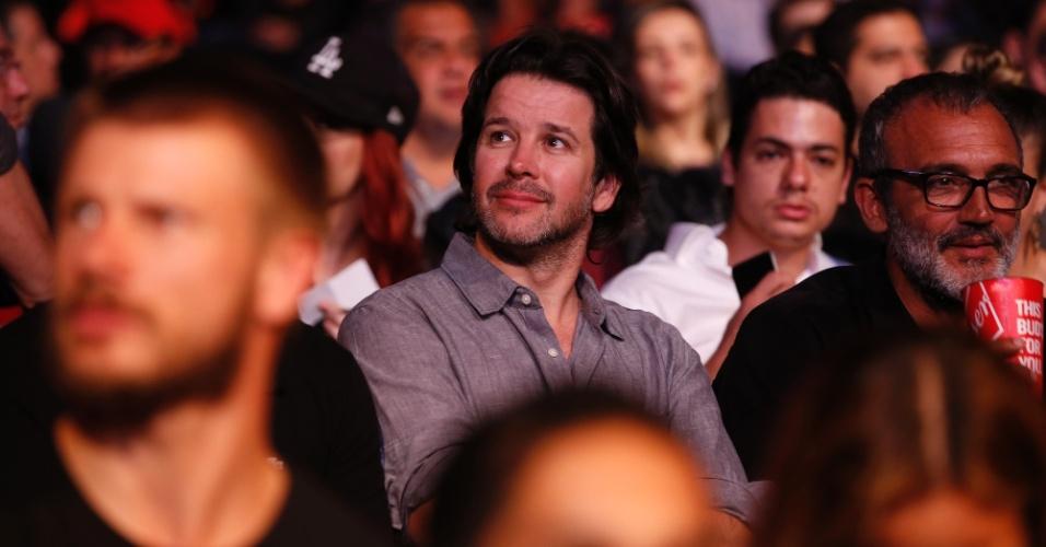 1.ago.2015 - Murilo Benício acompanhou a série de lutas do UFC no HSBC Arena no Rio de Janeiro