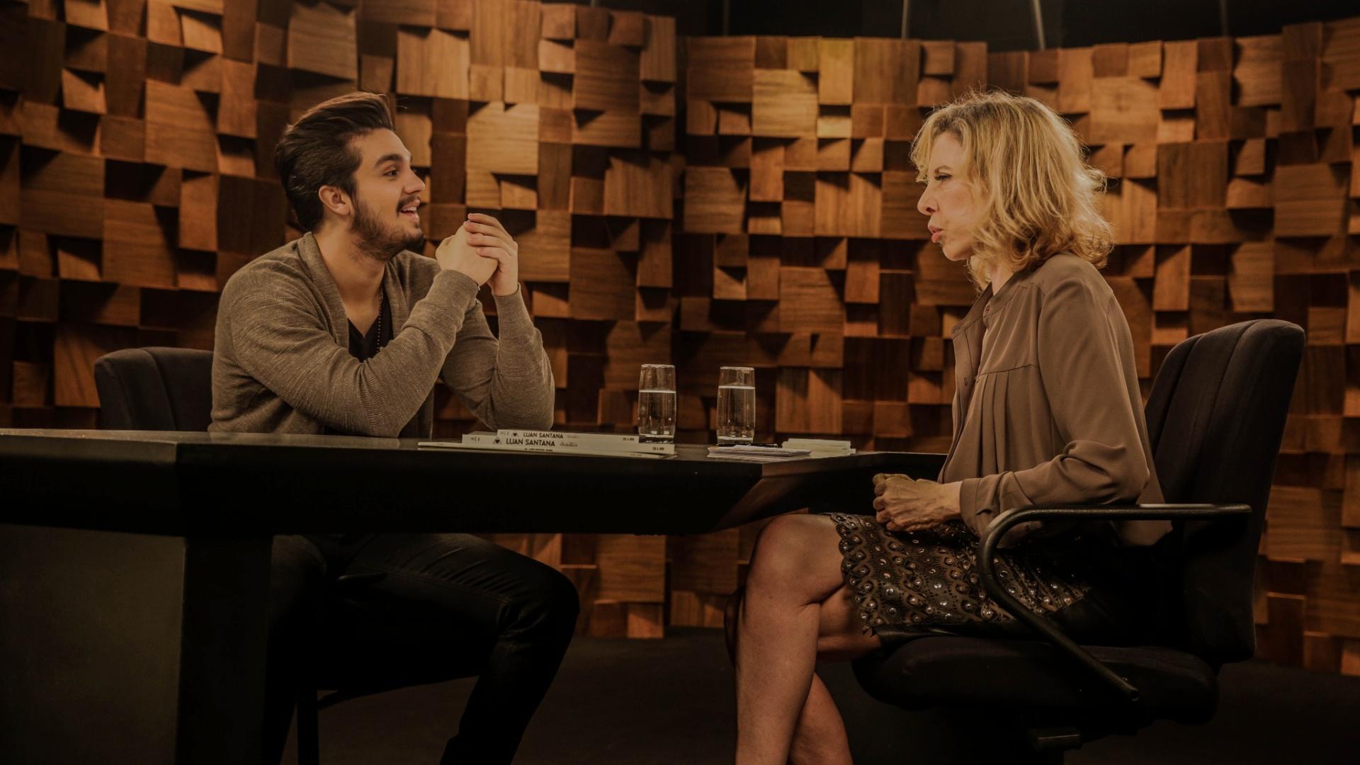 Luan Santana em entrevista a Marília Gabriela