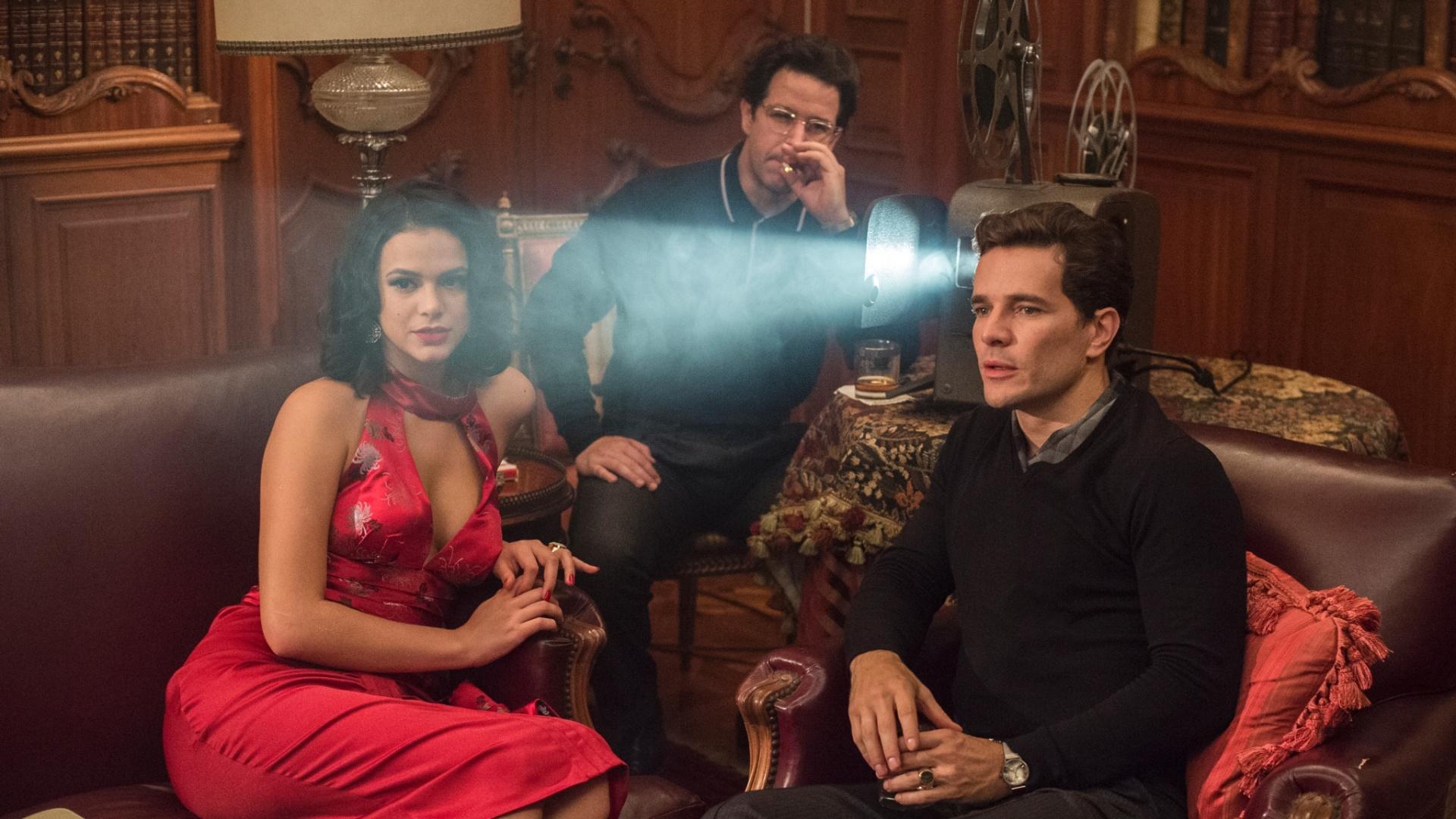 Saulo (Murilo Benício), Otaviano (Daniel de Oliveira) e Beatriz (Bruna Marquezine) em