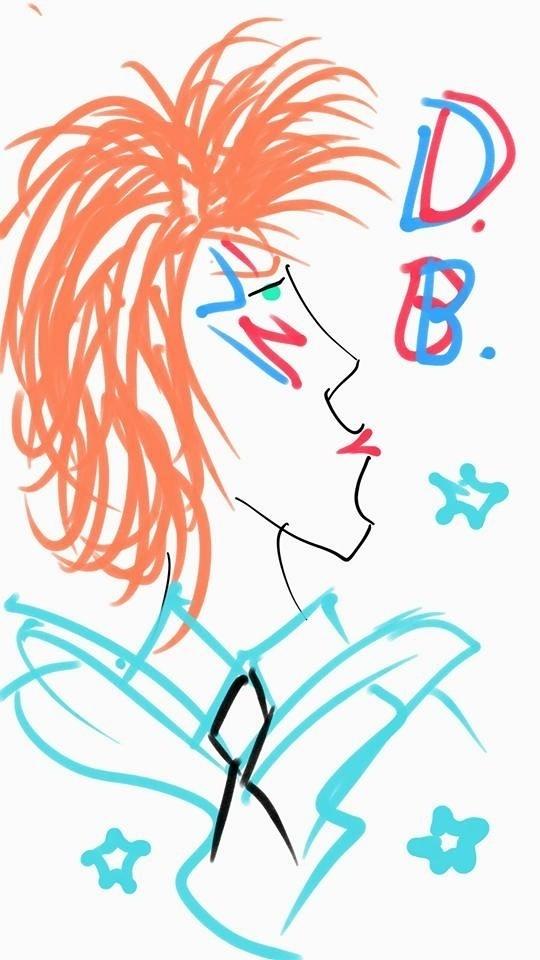 Após a morte de David Bowie, a artista Bia Kassar homenageou o cantor