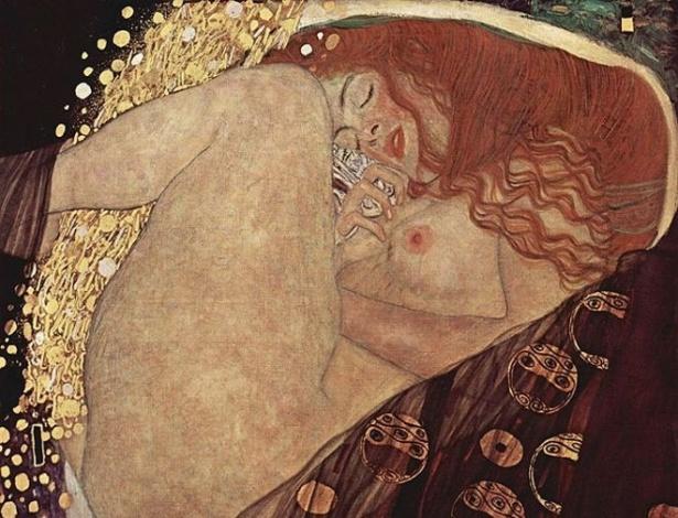 O artista austríaco Gustav Klimt foi um dos mestres em retratar o prazer, como se pode ver na obra 'Danae'