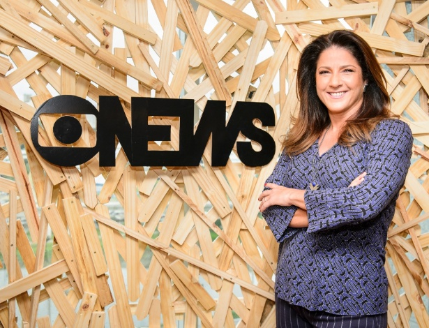 """16.fev.2016 - Christiane Pelajo apresenta seu novo programa, o """"Jornal da GloboNews Edição das 16h"""""""