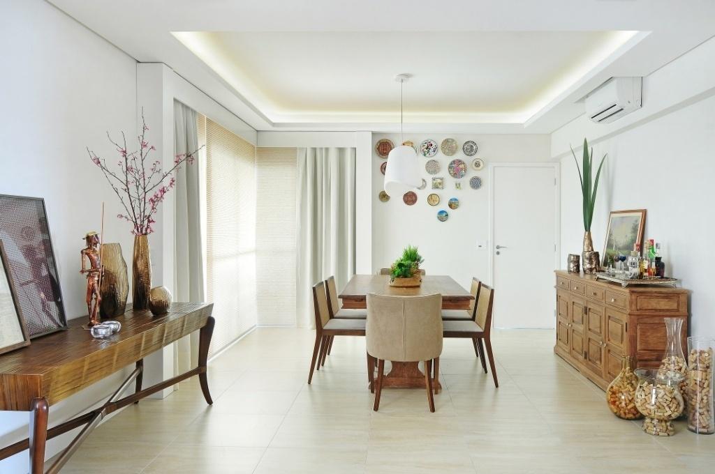 Gesso Para Sala De Jantar E Estar ~ Salas de jantar ideias para decorar o ambiente  BOL Fotos  BOL