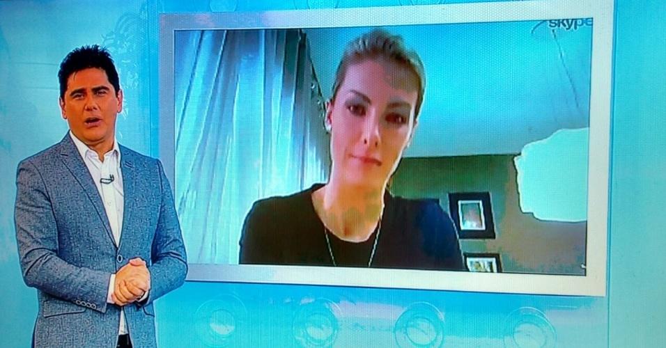 """Ana Hickmann participa ao vivo do """"Hoje em Dia"""" para falar sobre o atentado que sofreu no sábado (21)"""