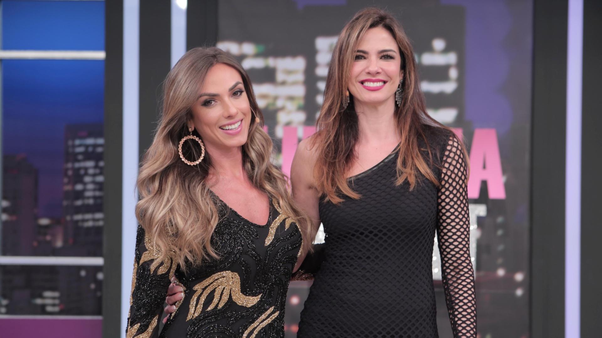 Nicole Bahls é a convidada de Luciana Gimenez no