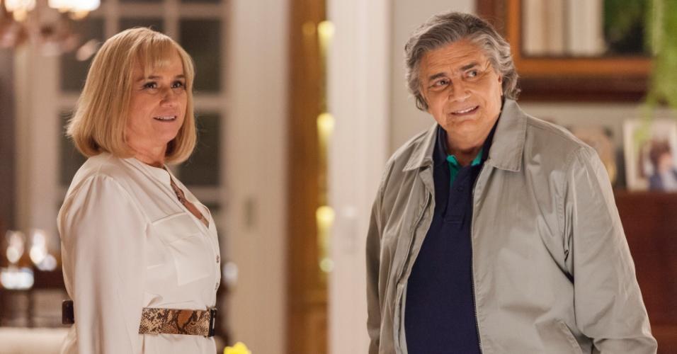 """Em """"A Lei e o Amor"""", Tarcísio Meira e Vera Holtz serão marido e mulher de caráter duvidoso"""