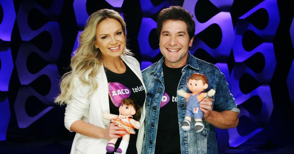 Eliana e Daniel nos bastidores da campanha
