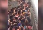 Vídeo assustador flagra caos em entrada de passageiras em trem na Índia - Reprodução/YouTube