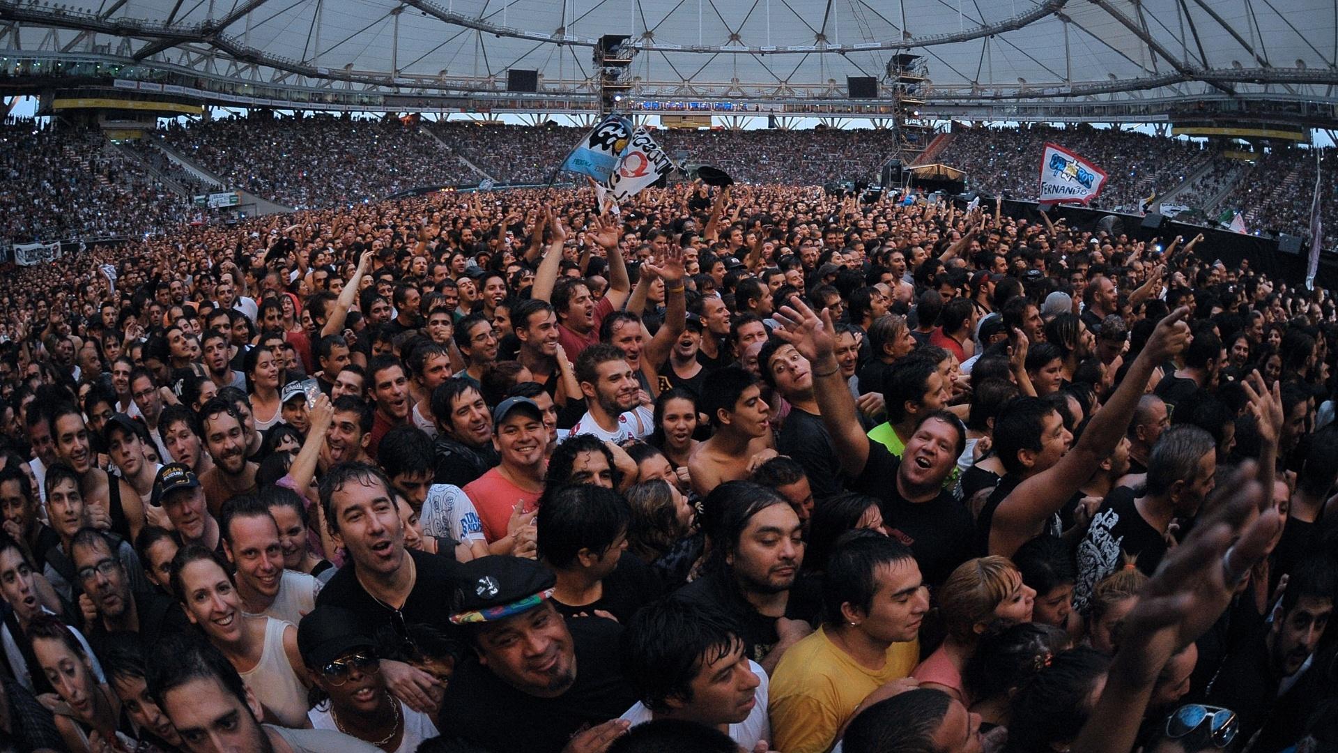 07.fev.2016 - Os Rolling Stones fazem o segundo show da turnê Olé, na Argentina