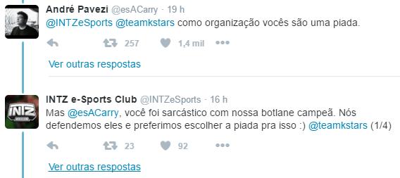 CBLOL 2016 - Tweet Pavezi e INTZ