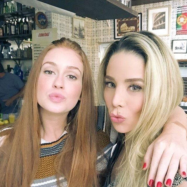 Marina Ruy Barbosa e Danielle Winits nos bastidores de