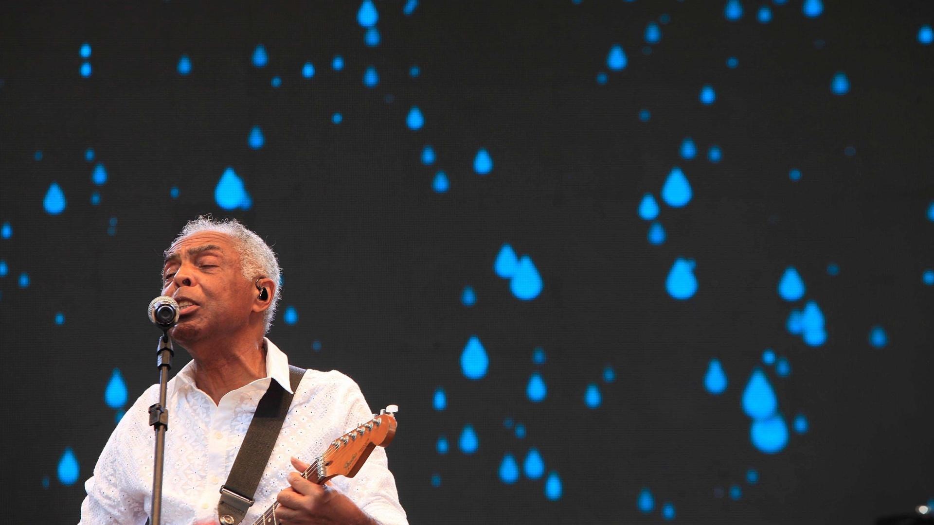 25.jan.2016 - Gilberto Gil faz show no Centro Esportivo Tietê em homenagem ao aniversário de 462 da cidade de São Paulo