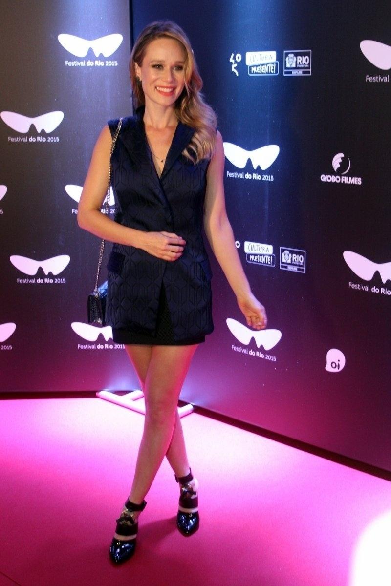 2.out.2015 - Mariana Ximenes durante exibição do filme